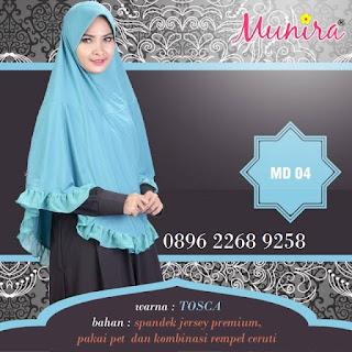 Jual jilbab koleksi terbaru Munira MD 04 dewasa harga murah