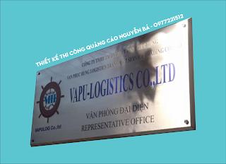 Sản xuất bảng hiệu công ty inox tại Quận 1