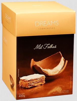 sobremesa francesa em formato de ovo de pascoa com massa folhada Cacau Show ovo dreams mil folhas