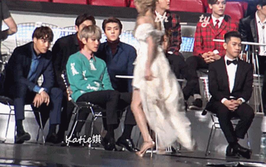 Fans muestran incómodo momento entre Taeyeon y Baekhyun ...