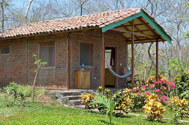 Bungalow sur l'île d'Ometepe au Nicaragua