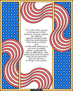 4th Amendment coloring page