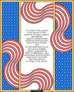 4th Amendment coloring page
