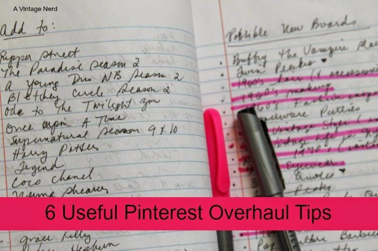 A Vintage Nerd, Vintage Blog, Pinterest Organization Tips