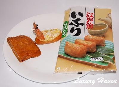 making inari sushi japanese beancurd appetizers