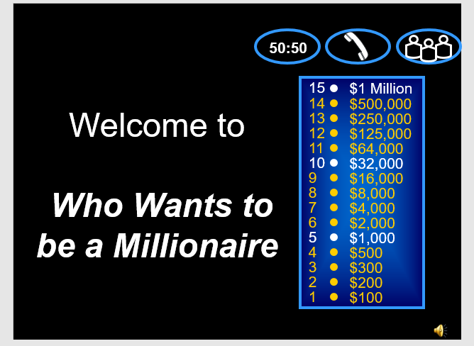 Ideas for Secondary English Teachers: PPT Who wants to be a millionaire?