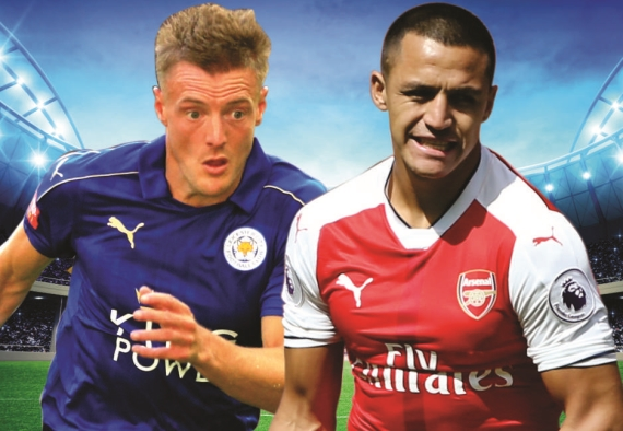 Champions of England, Leicester, square off against last season's runners-up, Arsenal