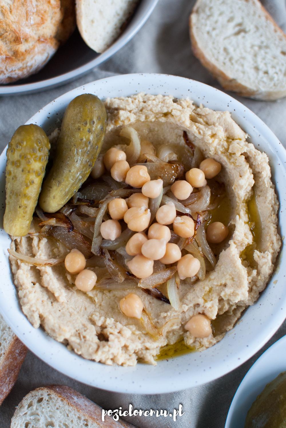 Hummus po polsku, czyli hummus cebulowy