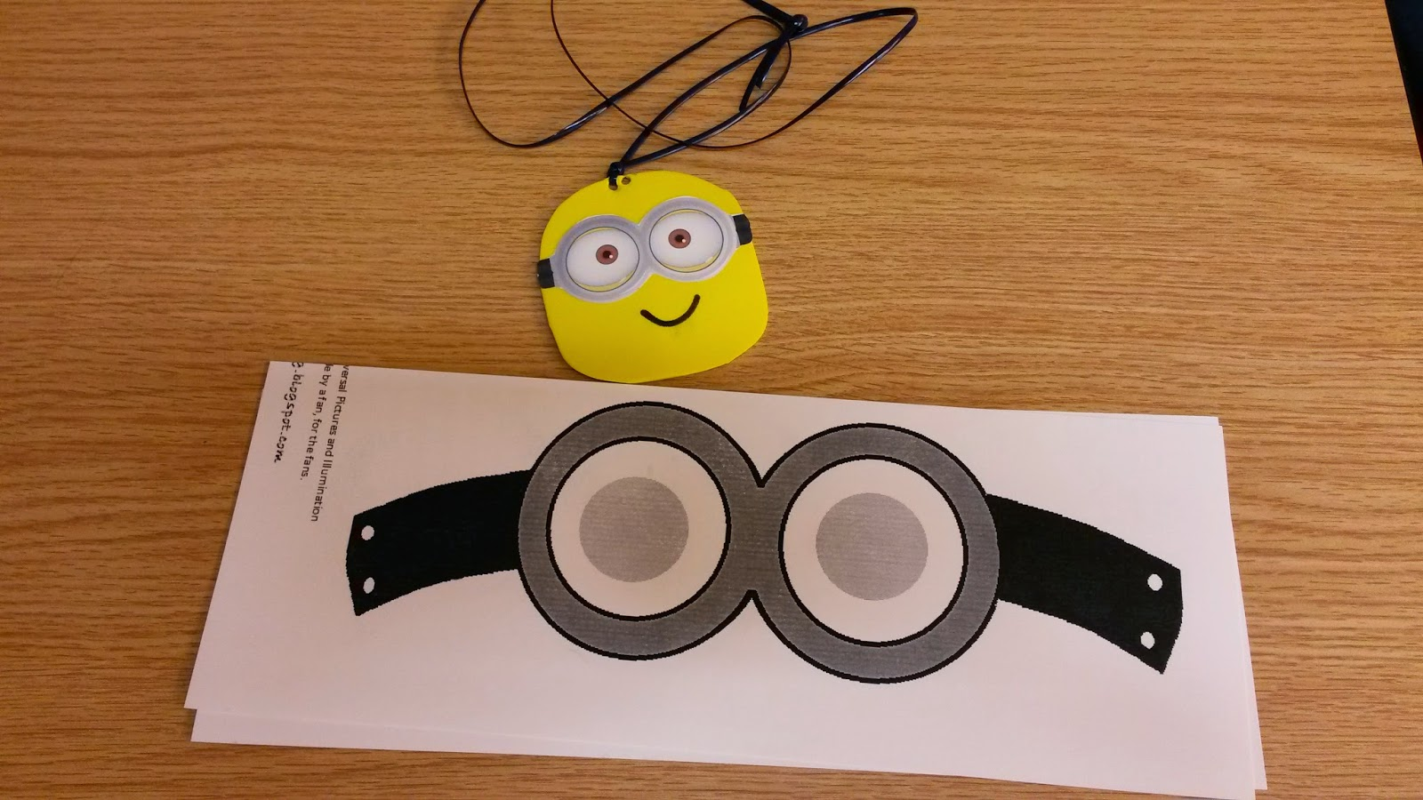 photograph relating to Minion Goggles Printable called a person minor librarian: just one in just a minion: a despicable me social gathering!