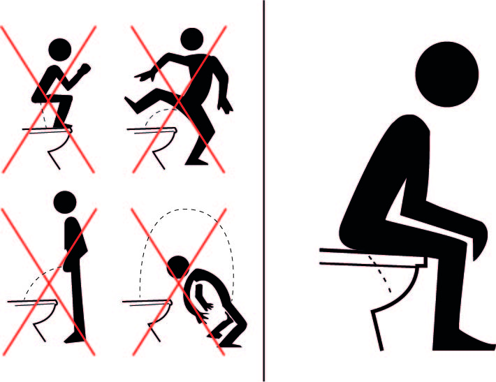 Affiche Pour Toilettes Propres