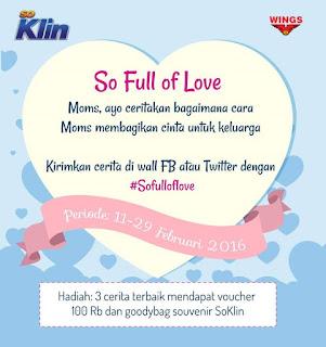 Info Kuis - Kuis So Klin So Full of Love Berhadiah Voucher Total 300K dan Goodybag Soklin