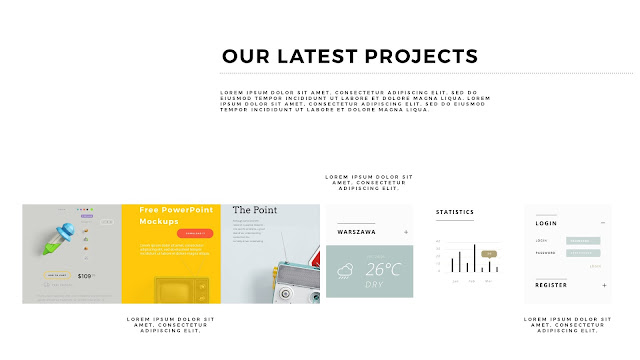 Free PowerPoint Templates with Professional Latest Projects Presentation Slide 4