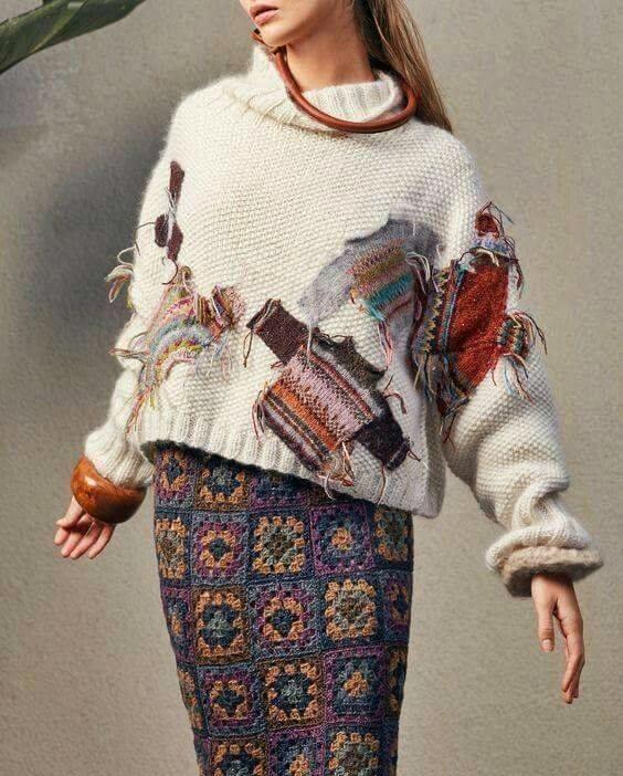 dzianiny na drutach