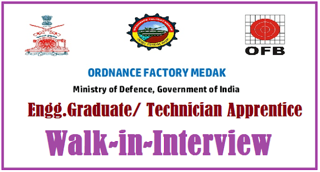TS State, TS Jobs, Ordnance Factory Medak, Diploma Apprentice Posts, Diploma Engineer jobs, Engineering Graduates, Engineering Technicians, OFB Recruitment