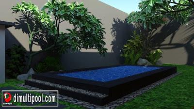 Desain kolam renang minimalis MR. Terry Tangerang 1