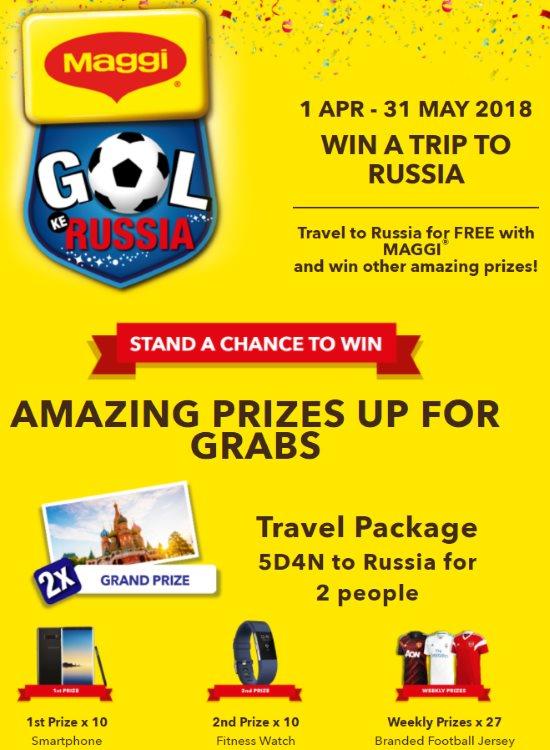 Peraduan MAGGI Gol Ke Russia Contest - Malaysia Online and