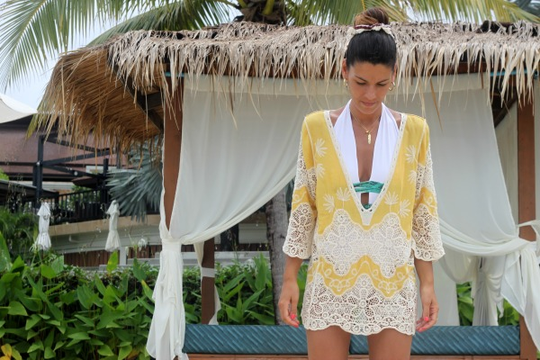 Ropa de playa, caftan, look playero