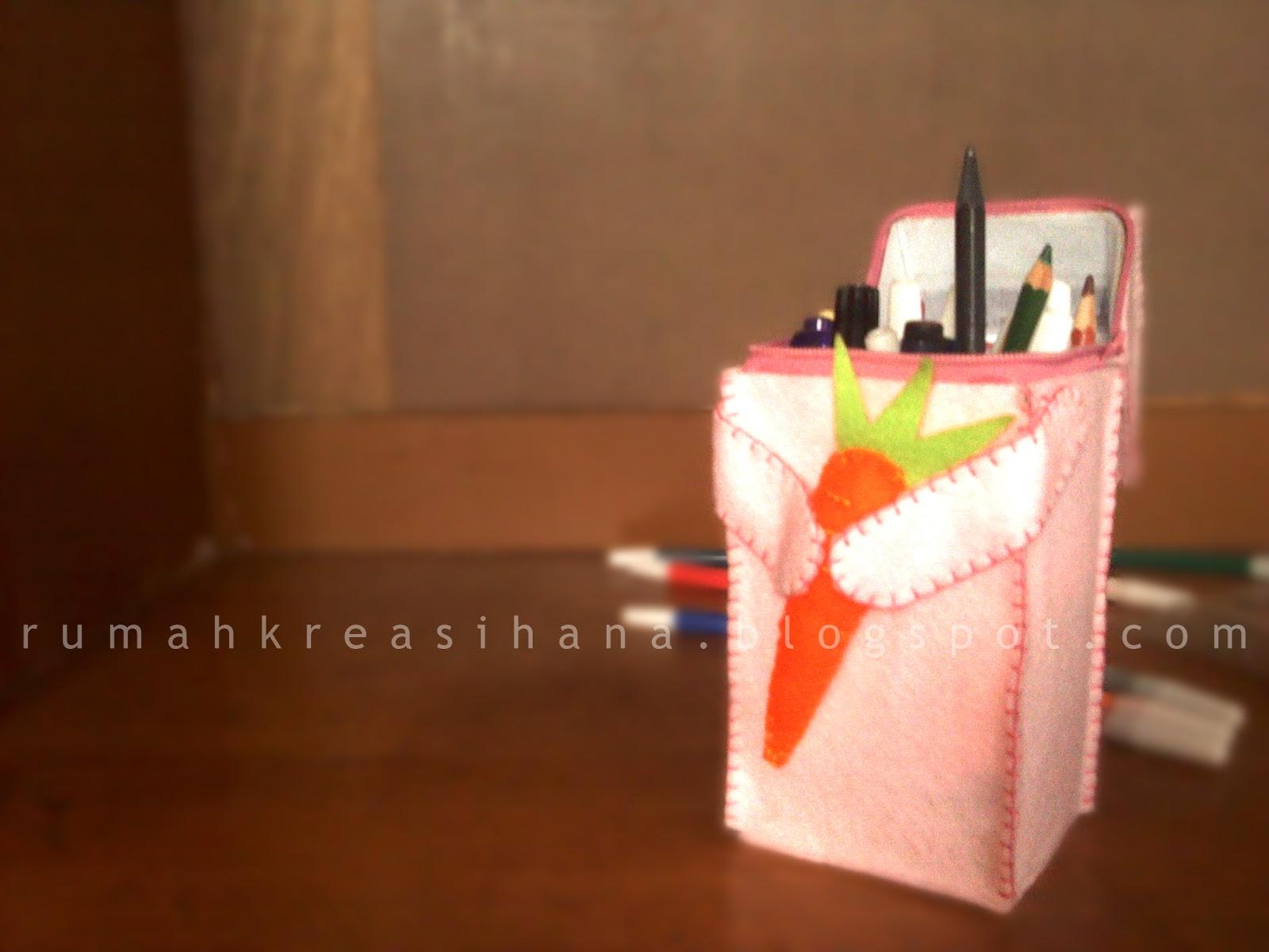 Kerajinan Tangan Kotak Pensil Dari Kardus
