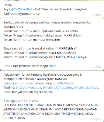 Wallet MRAI (XRB RAIBLOCKS) on Telegram