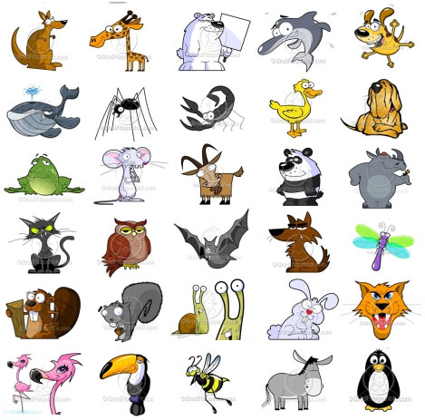 Animals love photos: Animals cartoon