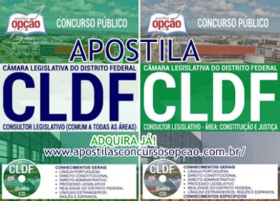 Apostila Consultor Legislativo CL-DF Concurso Câmara Legislativa do Distrito Federal 2017