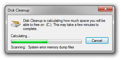 Hệ điều hành sẽ tiến hành quét ổ đĩa