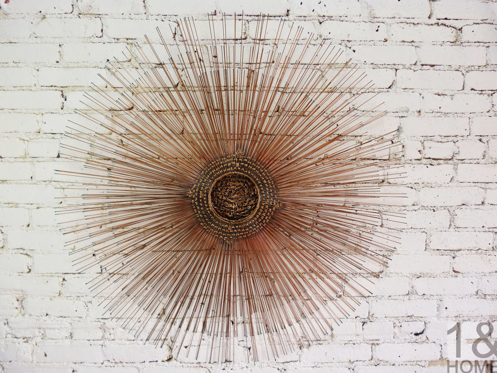 Friedle Mid Century Modern Brutalist Copper Starburst Wall Art