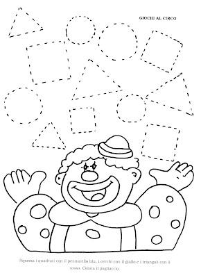 La maestra linda forme geometriche for Schede didattiche scuola infanzia 3 anni