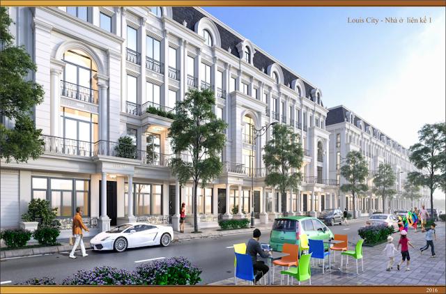 Thiết kế nhà liền kề Louis City