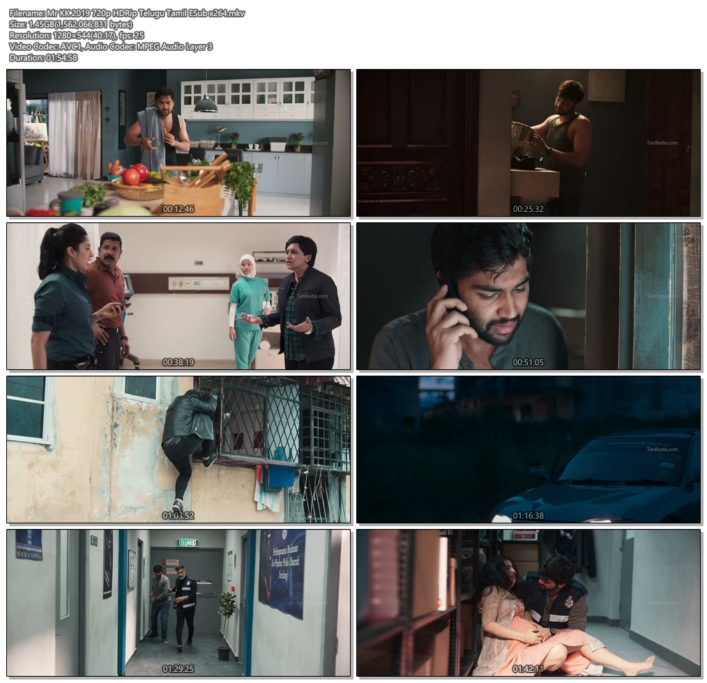 Mr KK 2019 720p HDRip Telugu Tamil ESub x264 | 480p 300MB | 100MB HEVC Screenshot
