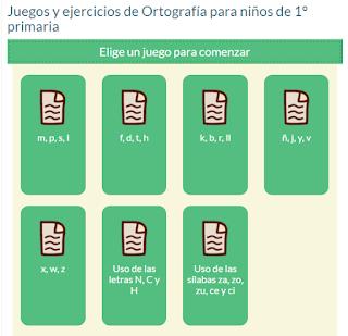 JUEGOS Y EJERCICIOS DE ORTOGRAFÍA PARA NIÑOS DE 1º DE PRIMARIA