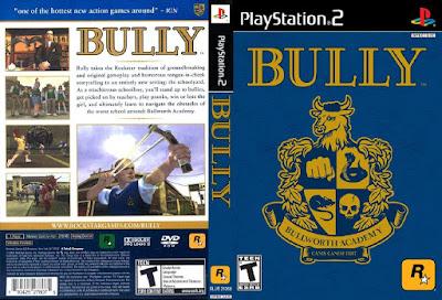 Jogo Bully PS2 DVD Capa