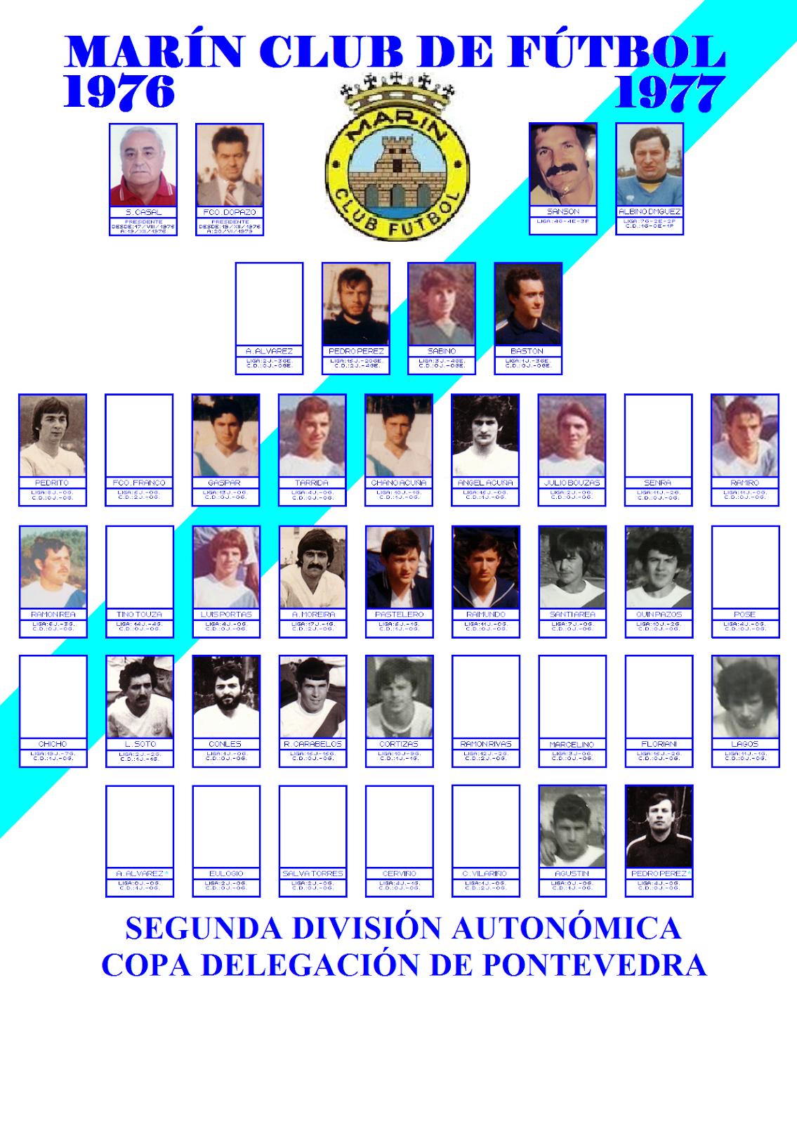 LABERINTO DEPORTIVO de Sena: MARÍN CLUB DE FÚTBOL : 1976 - 1977