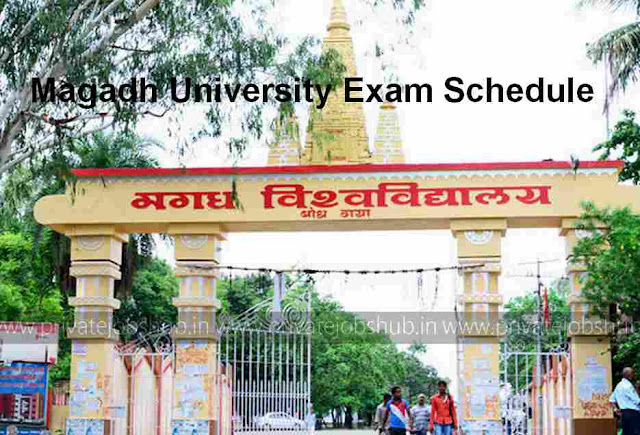 Magadh University Exam Schedule