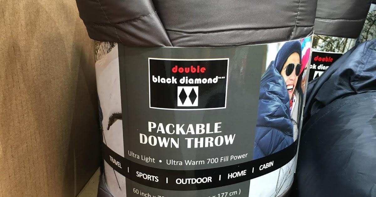 Double Black Diamond Packable Down Throw Blanket 60 Quot X 70