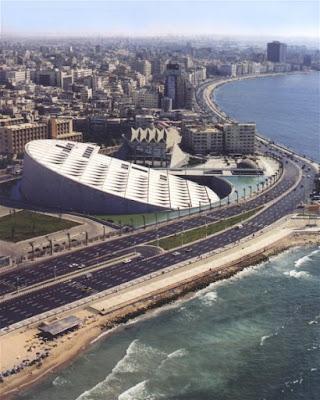 Bibliotheca Alexandrina Aerial View