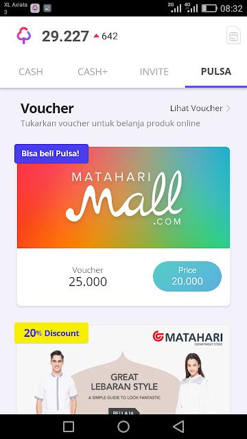 Cara Tukar Saldo Cashtree dengan Voucher Pulsa Matahari Mall