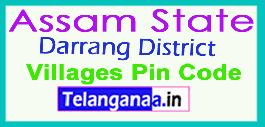 Darrang District Pin Codes in Assam State