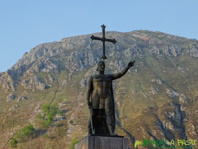 Rey Pelayo en Covadonga