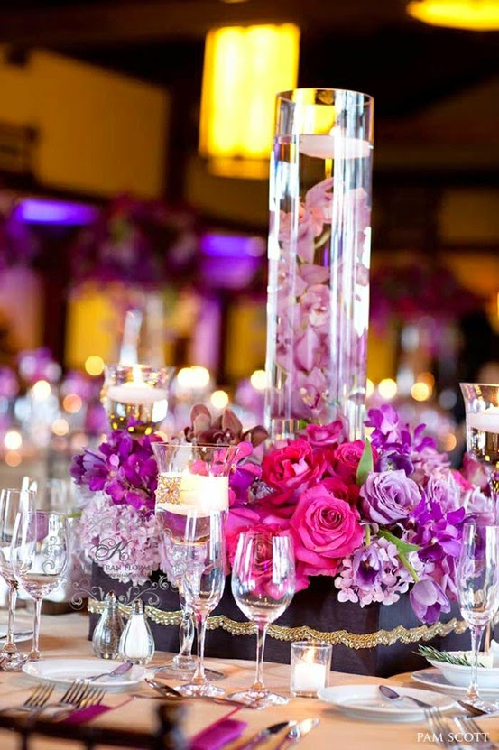 wedding centerpiece ideas Submerged flowers surrounded by fresh