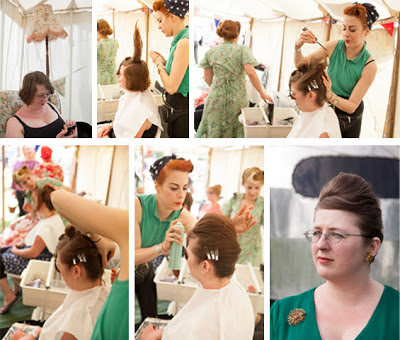 vintage hair parlour event pop-up