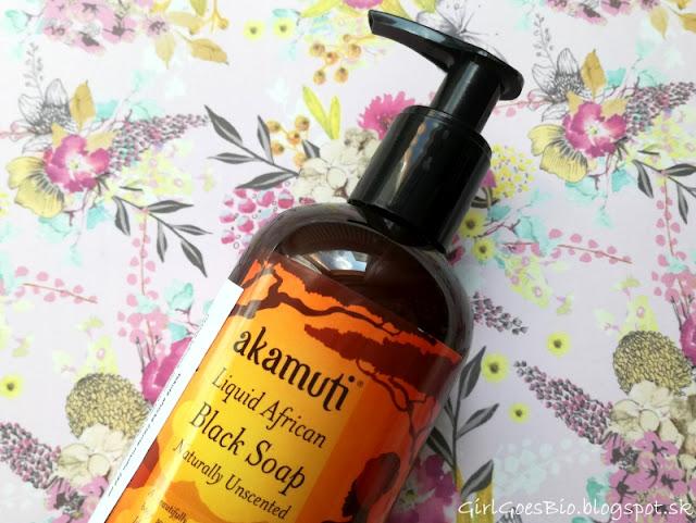 Akamuti tekute africke cierne prirodne mydlo na citlivu pokozku