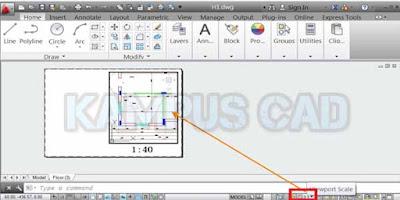 cara mencetak gambar pada layout autocad