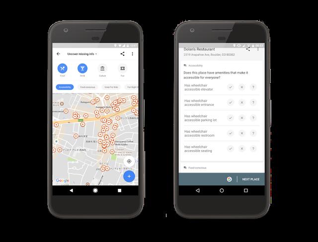 google accesibilidad maps