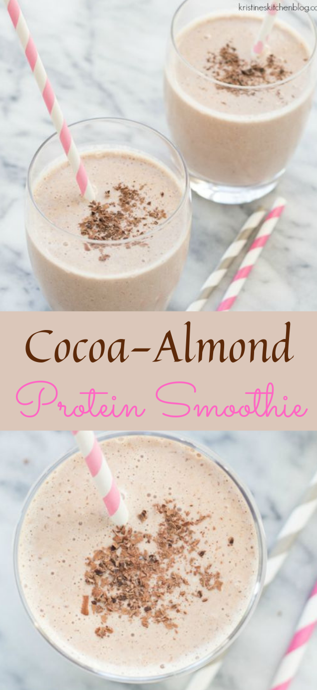Cocoa Almond Protein Smoothie #drink #smoothie