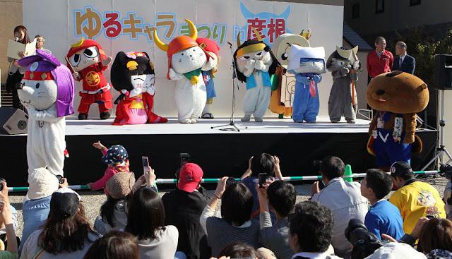 Yu-Ru-Chara Festival 2017 in Hikone, holy place for Yu-Ru-Chara