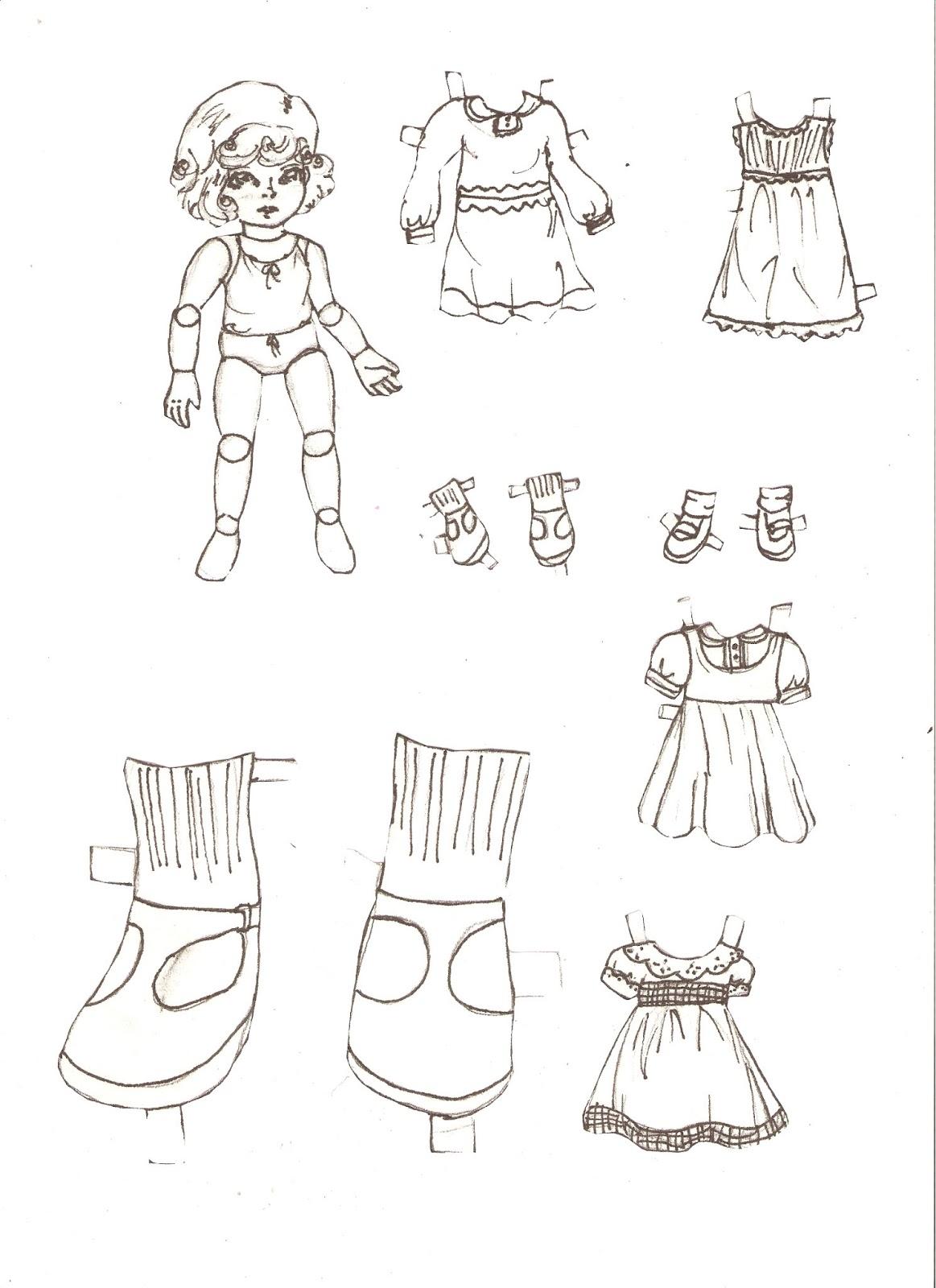 Miss Missy Paper Dolls: large paper doll