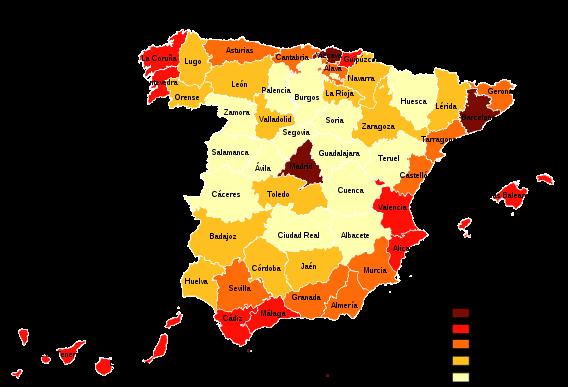 Mapa Tematico De Espana.Comentario De Mapas Geograficos Tematicos