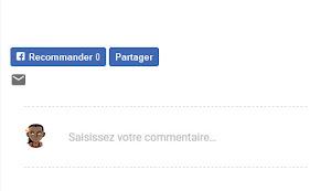 Le bouton J'aime de Facebook, Sous les articles dans un thème Moderne (Layout version 3).