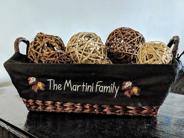 fall decor, personalized decor, personalized fall decor, personalized wicker basket